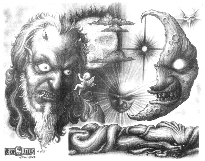 эскизы демонов:
